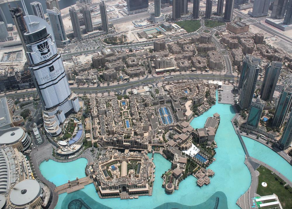 Un de points de vue depuis le Top de Burj Khalifa