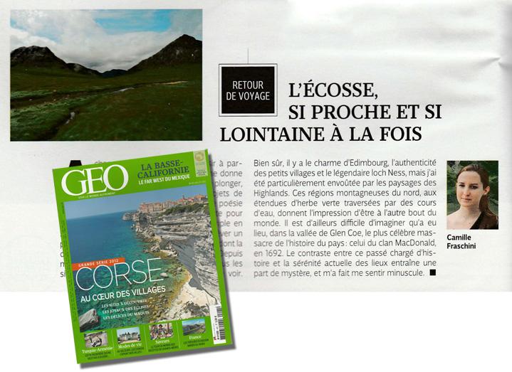 Voyages-et-compagnie.com - Blog voyage   Publication MAGAZINE GEO - On parle de nous
